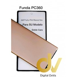 J530 / J5 2017 SAMSUNG Funda Pc 360 Doble Cara Dorado