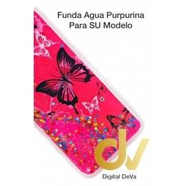 Mi A2 Lite / Redmi 6 Pro XIAOMI Funda Agua Purpurina MARIPOSAS ROSA