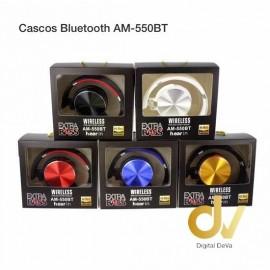 Cascos Bluetooth AM-550BT Dorado