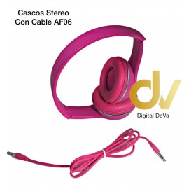 Cascos Stereo Con Cable AF06 Rosa