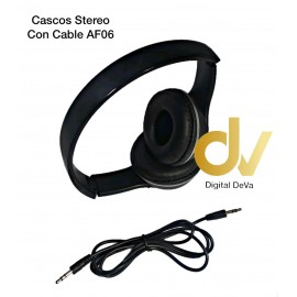 Cascos Stereo Con Cable AF06 Negro