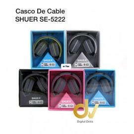 Cascos De Cable SHUER SE-5222 Amarillo