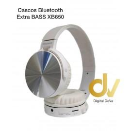 Cascos Bluetooth Extra BASS XB650 Blanco