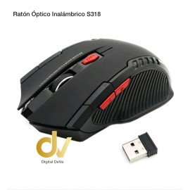 Ratón Óptico Inalambrico S318 Negro