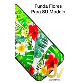 Y6P / Y6 Plus 2020 Funda Dibujo 5D Flores Tropical