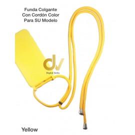 iPhone XR Funda Colgante Con Cordón De Color Amarillo