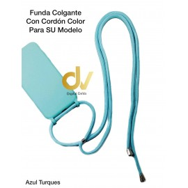 iPhone XR Funda Colgante Con Cordón Azul Turques