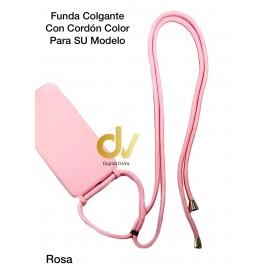 iPhone XS MAX Funda Colgante Con Cordón De Color Rosa