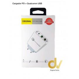 Enchufe PD + 2Usb QUALCOMM