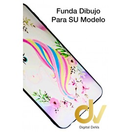 J4 Plus Samsung Funda Dibujo 5D Unicornio