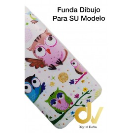 J4 2018 Samsung Funda Dibujo 5D BUHOS
