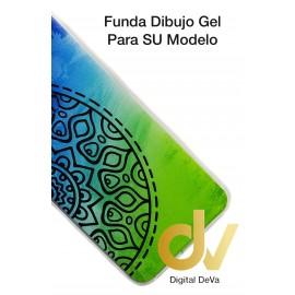 PocoFone F1 Xiaomi Funda Dibujo 5D MANDALA AZUL