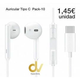 Auricular Tipo C Pack -10
