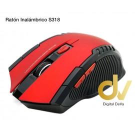 Ratón Óptico Inalambrico S318 Rojo