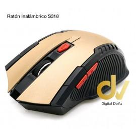 Ratón Óptico Inalambrico S318 Dorado