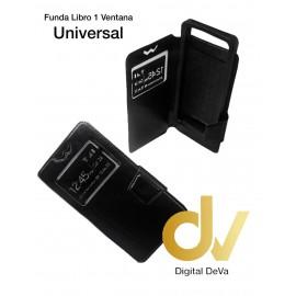 Universal 6.0 Funda Libro 1 Ventana NEGRO (F6)