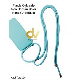 iPhone 11 Funda Colgante Con Cordón Azul Turques