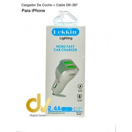 Cargador De Coche + Cable iPhone DK-367