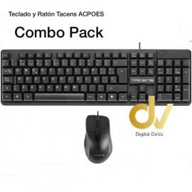 Teclado y Raton Tacens ACPOES Combo Pack
