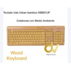 Teclado Usb Urban Bamboo KBB31UF