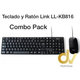 Teclado y Raton Link LL-KB816