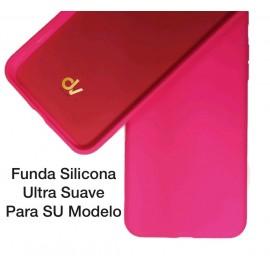 iPhone XS Max Funda Ultra Suave Rosa Neon
