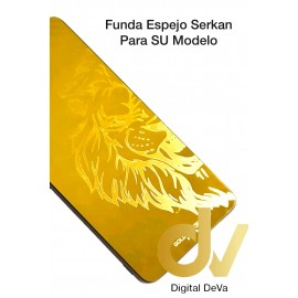 A21S Samsung Funda Serkan Espejo Dorado