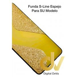 A21S Samsung Funda Brilli Espejo S-Line Dorado
