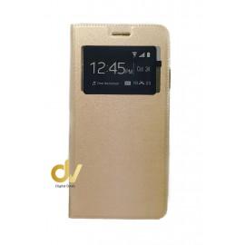 S21 5G Samsung Funda Libro 1 Ventana Imantada Dorado