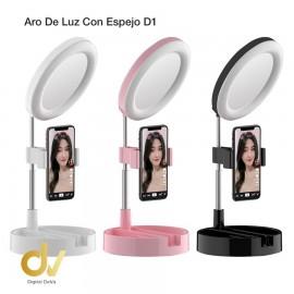 Aro De Luz Espejo D1 Rosa