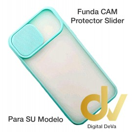 iPhone 12 Pro Funda CAM Protector Slider Azul Turques