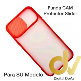 iPhone 12 6.1 Funda CAM Protector Slider Rojo