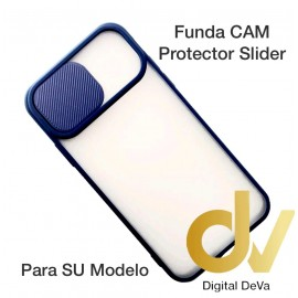 iPhone 12 6.1 Funda CAM Protector Slider Azul