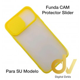 iPhone 12 6.1 Funda CAM Protector Slider Amarillo