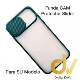 iPhone 12 Pro Max 6.7 Funda CAM Protector Slider Verde Militar