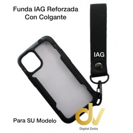 iPhone 12 Mini 5.4 Funda IAG Reforzada Con Colgante Negro