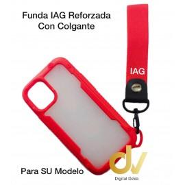 iPhone 12 5.4 Funda IAG Reforzada Con Colgante Rojo