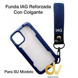 iPhone 12 Mini 5.4 Funda IAG Reforzada Con Colgante Azul