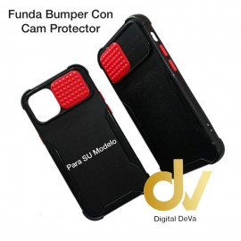 iPhone 12 6.1 Funda Bumper Con Cam Protector Negro