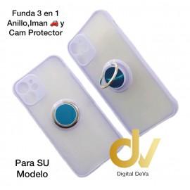 A21S Samsung Funda 3en1 Anillo, Iman y Cam Protector Lila