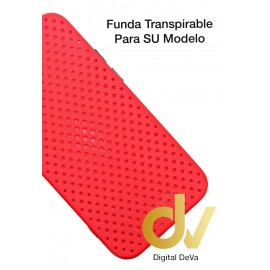 iPhone 12 Pro Funda Transpirable Rojo