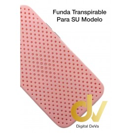 iPhone 12 Pro Funda Transpirable Rosa