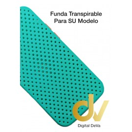 iPhone 12 Pro Funda Transpirable Azul Turques