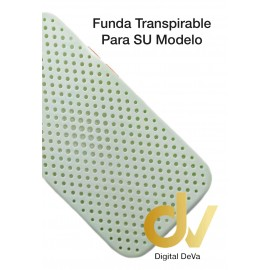 iPhone 12 Pro Funda Transpirable Verde Agua