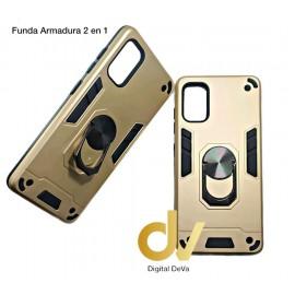 A11 Samsung Funda Armadura 2 En 1 Dorado