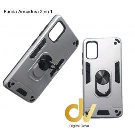 Poco X3 Xiaomi Funda Armadura 2 En 1 Plata