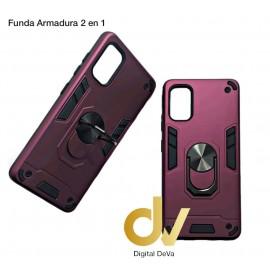 A91 Oppo Funda Armadura 2 En 1 Lila