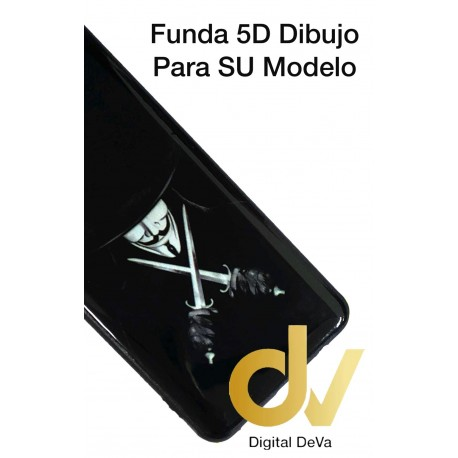 A91 Oppo Funda Dibujo 5D Anonimo