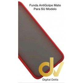 A73 / F17 Oppo Funda AntiGolpe Mate Rojo