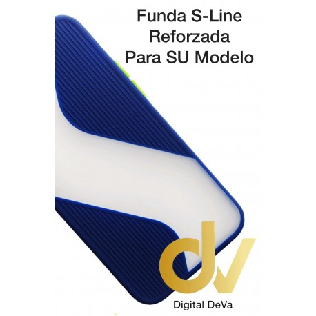 iPhone 12 5.4 Funda S-Line Reforzada Azul